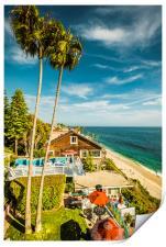 Sunny Summer Day Laguna Beach, Print