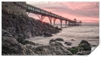 Sunset Clevedon Pier, Print