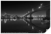 Itchen Bridge at night, Southampton, Print