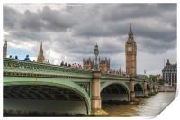 Westminster bridge, Print
