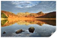 Dawn at Blea Tarn, The Lake District., Print