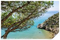 Mediterranean sea view, Print