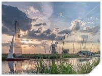 Sailing at Sunset, Print