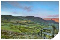 The Great Ridge from Mam Tor, Print