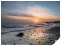 Sun Up Happisburgh Beach, Print