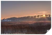 Sunrise at Cley Village - Norfolk, Print