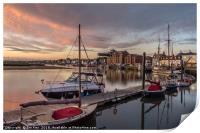 Sunrise at Wells Quay, Print