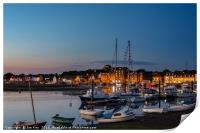 Lights are on in Wells Harbour  Norfolk, Print