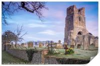 St Mary The Virgin Church  Barningham  Norfolk, Print