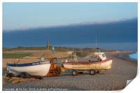 Morning Sun on the Fishing Boats, Print