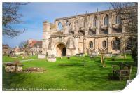 Malmesbury Abbey , Print