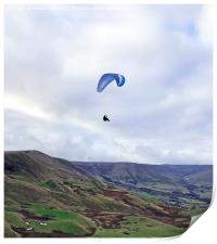 Paragliding in the Peak District, Print