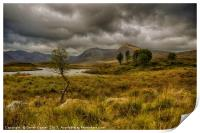 Lochan Na Stainge, Glencoe, Print