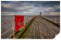 Whitby Pier, Print