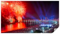 Iconic and breath-taking fireworks display on Copa, Print