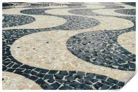 Portuguese pattern on ground - Copacabana, Print