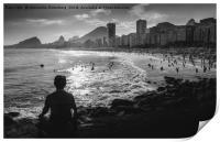 Fine Art Copacabana Rio de Janeiro, Brazil, Print