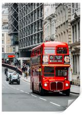 London Routemaster Bus, Print