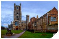 Ely Cathedral on the Green, Print