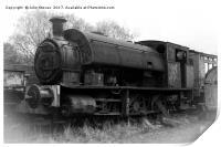 Steam Train Graveyard, at Tanfield Railway, Print
