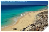 Playa El Salmo, Fuerteventura, Print