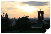 Edinburgh skyline and Calton Hill, Print