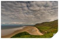 Deserted Llangenith Beach Gower, Print
