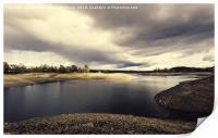 Threat of rain on the lake, Print