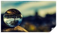 Reflection in crystal ball, Print