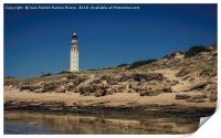 Lighthouse on the beach, Print