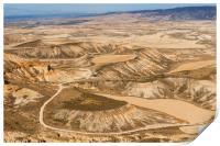 Desert landscape, Print