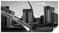 Abstract Millennium Bridge over the River Tyne, Print