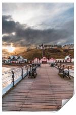 View from the Pier up to Saltburn Town, Print