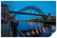Tyne Bridge in Newcastle upon Tyne, Print