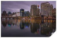 Darling Harbour at dusk, Print
