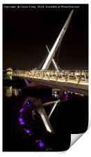 Reflections at the Peace Bridge , Print