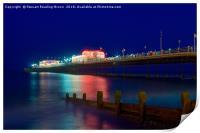 Worthing Pier At Night, Print