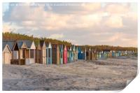 Beach Houses on West Wittering Beach, Print