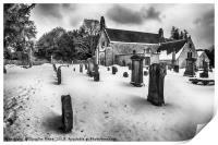 Abercorn Church in the Snow, Print