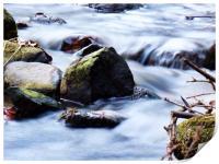 Silky river , Print