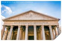 The Pantheon in Rome, Print