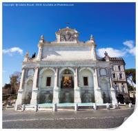 Fontana dell'Acqua Paola in Rome, Print
