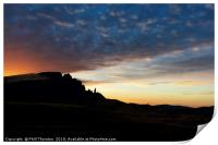 Sunsetting over The Old Man of Storr., Print