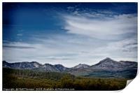 The Goatfell Mountain range, Isle of Arran., Print