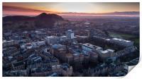 Sunrise over Arthur's Seat in Edinburgh, Print