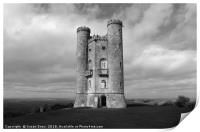 Broadway Tower in Black and White, Print