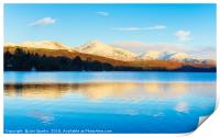 Winter reflections, Coniston Water, Print