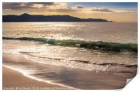 Breaking waves at Spirits Bay, Print