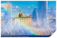 Fountains and Winter Palace, Print
