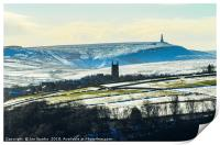 Heptonstall Church and Stoodley Pike, Print